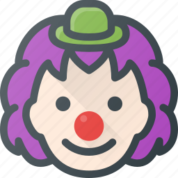 birthday, clown, joke, laugh icon