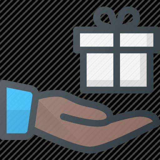 birthday, box, gift, giving, present icon
