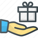 birthday, box, gift, giving, present icon