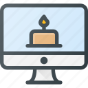 birthday, celebratioin, message, party, tell icon