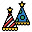birthday, funny, hat, party icon