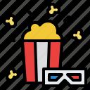 movie, popcorn, snack, sweet icon