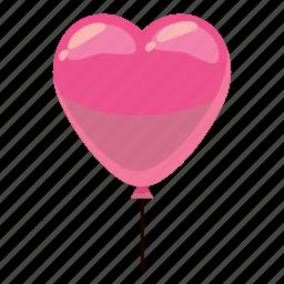 balloon, birthday, cartoon, celebration, decoration, heart, party icon