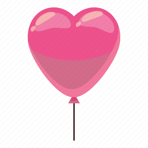 balloon, birthday, cartoon, celebration, decoration, heart, party icon