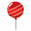 air, balloon, cartoon, celebration, decoration, helium, strip icon