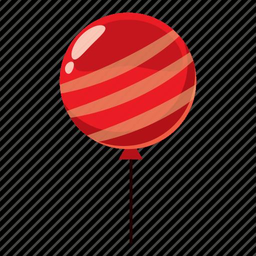 air, balloon, cartoon, celebration, decoration, helium, strip icon