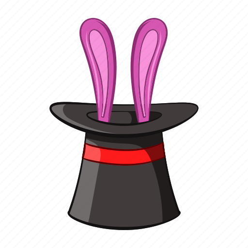 Cartoon, hat, magic, object, rabbit, sign, surprise icon - Download on Iconfinder