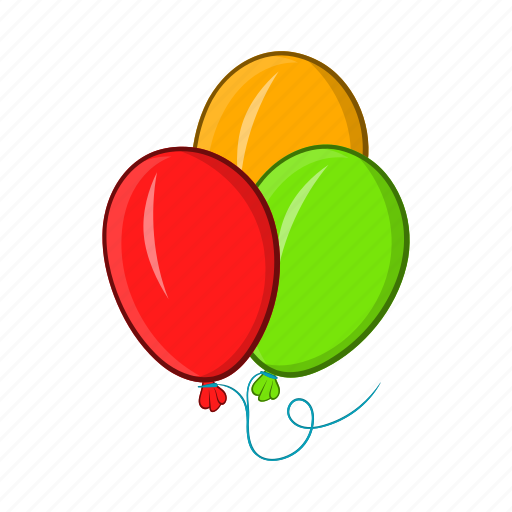 air, balloons, birthday, cartoon, celebration, object, sign icon