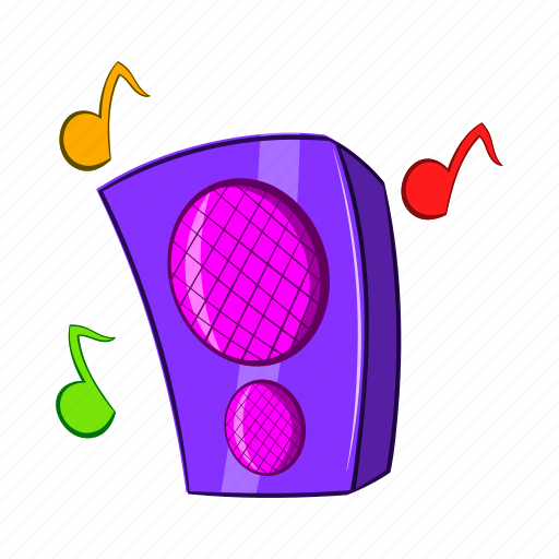 cartoon, column, music, sign, sound, speaker, stereo icon