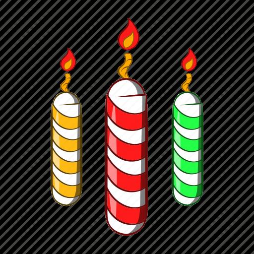 candles, cartoon, celebration, decoration, festive, object, sign icon
