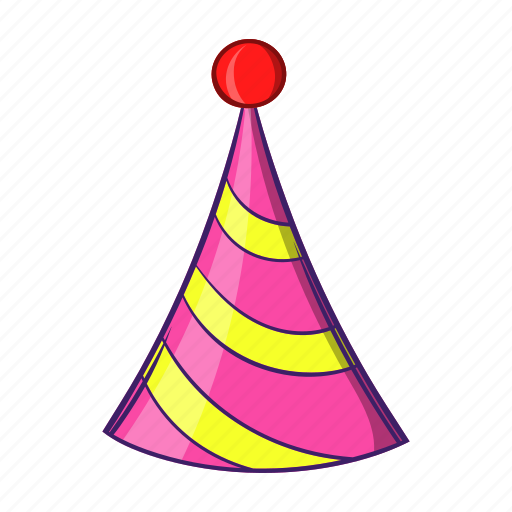 cartoon, celebration, event, hat, object, party, sign icon