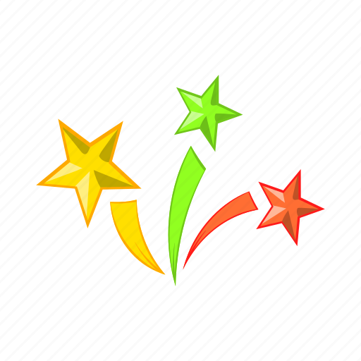 Cartoon, celebration, festival, fireworks, holiday, object, star icon - Download on Iconfinder