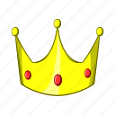 cartoon, crown, illustration, king, object, queen, sign icon