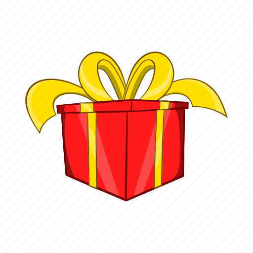 Bow, box, cartoon, gift, object, present, sign icon - Download on Iconfinder