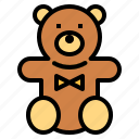 animal, bear, children, fluffy, puppet, teddy icon