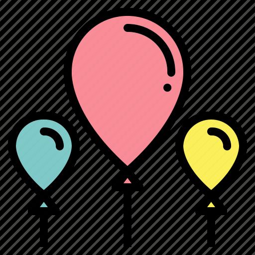 balloon, birthday, celebration, decoration, new, party, year icon