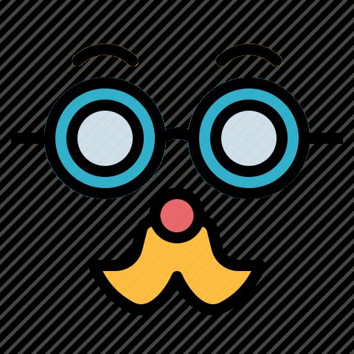 carnival, entertainment, mask, moustache icon
