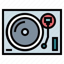 music, record, technology, turntable, vinyl icon