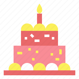 bakery, birthday, cake, candles, food icon