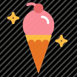 cream, dessert, food, ice, summer, summertime, sweet icon
