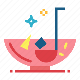 alcohol, alcoholic, bowl, drink, party, punch icon