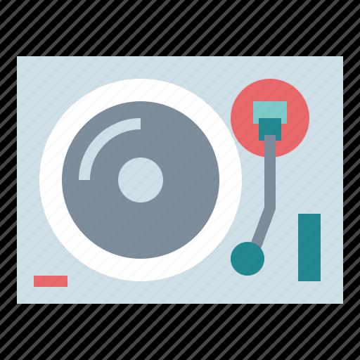 music, record, technology, turntable, vinyl icon