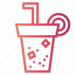 cup, drink, food, paper, soda, soft, straw icon