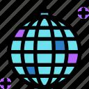 ball, birthday, disco, happy, party