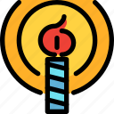 birthday, candle, happy, party icon