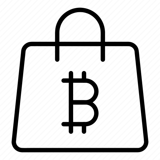 bag, bitcoin, buy, cart, payment icon