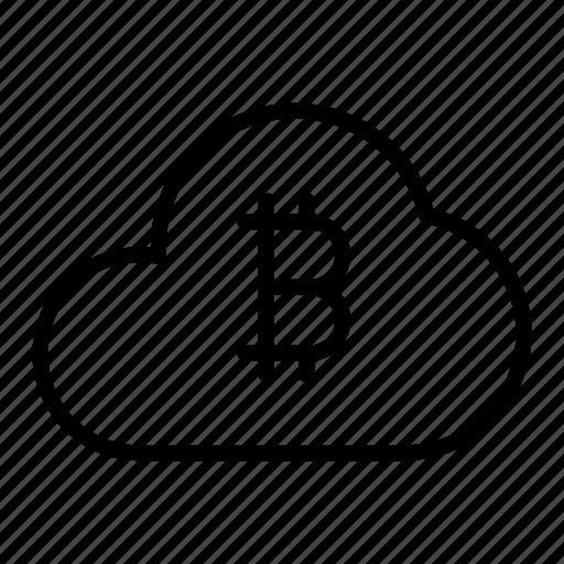 bitcoin, cloud, cloud computing, crypto currency, storage icon