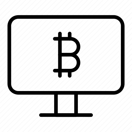 bitcoin, computer, online, payment, transaction icon