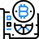 bitcoin, computer, currency, digital, hardware, money icon