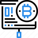 bitcoin, business, currency, digital, money, report icon