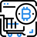 bitcoin, currency, digital, money, payment, shopping icon