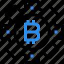 bitcoin, currency, digital, gear, money, process