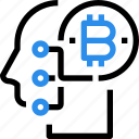 bitcoin, connect, currency, digital, mind, money icon