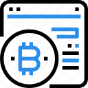 bitcoin, currency, digital, money, online, payment icon