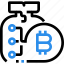 bag, banking, bitcoin, currency, digital, money, saving icon
