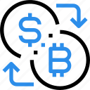 bank, banking, bitcoin, currency, digital, exchange, money icon