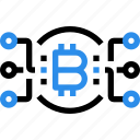 bitcoin, connect, currency, digital, money icon