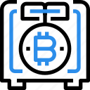 bitcoin, currency, digital, investment, money, safe, saving icon