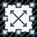 block, blockchain, connection, data, network, organization, structure icon