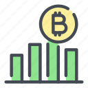 analytics, bitcoin, blockchain, crypto, cryptocurrency, statistics, stats icon