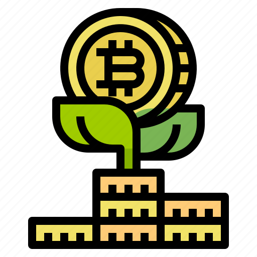 bitcoin, cash, coin, currency, growth, money icon