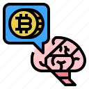 bitcoin, investing, plan, strategy icon