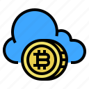bitcoin, cash, cloud, coin, currency, money