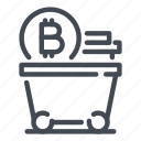 bitcoin, blockchain, coin, crypto, cryptocurrency, mine, mining icon