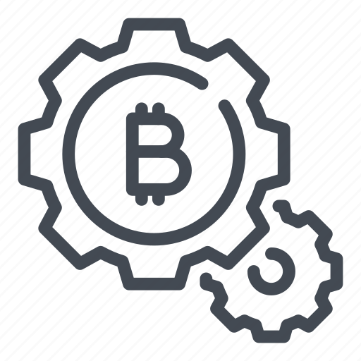 bitcoin, blockchain, crypto, cryptocurrency, gear, preferences, settings icon