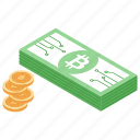 bitcoin cash, bitcoin exchange, cryptocurrency, digital finance, digital money icon